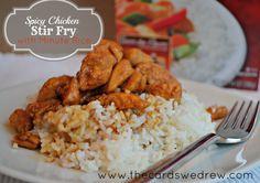 Tasty Spicy Chicken Stir-Fry with Rice recipe Minute Rice Recipes, Supper Recipes, Veggie Stir Fry, Chicken Stir Fry, Asian Recipes, Healthy Recipes, Beef Brisket Recipes, Easy Summer Meals, Chicken Recipes