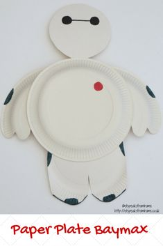 Paper Plate Baymax Craft - ET Speaks From Home