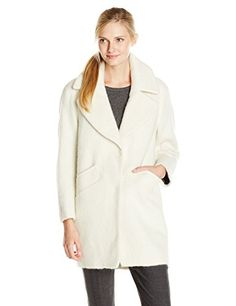 New Trending Outerwear: Marc New York by Andrew Marc Women's Emery Brushed Wool Coat, Ivory, 14. Special Offer: $178.00 amazon.com Wool-blend coat in slightly oversized silhouette featuring notched lapels and front hand pocketsSnap placket