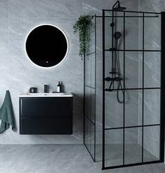 Celeste nero dusjdør - høyre m/ sikkerhetsfolie, sort - MegaFlis. Bathroom Grey, Diy Bathroom, Laundry In Bathroom, Modern Bathroom Design, Bathroom Interior Design, Interior Design Living Room, Small Bathroom, Earthship, Bad Inspiration