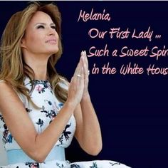 She is simply AMAZING! America is richly blessed to have Melania as our First Lady❤️ Malania Trump, Trump One, Trump Train, Milania Trump Style, First Lady Melania Trump, Trump Melania, Trump Is My President, Greatest Presidents, American Pride