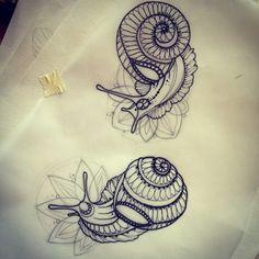 snails tattoo - Google Search