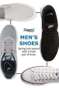 Whether you're strolling into your next big business meeting or hitting the gym, the shoes that you wear can tell a lot about you. Show 'em you mean business with a brand new pair from some of your favorite brands. Shop the collection today at Zappos.com.