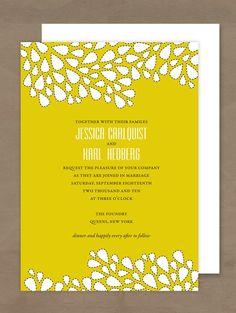 Dew Drop Wedding Invitation. $3.75, via Etsy.