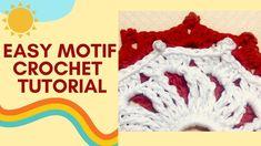 How to crochet Easy Flower Motif Crochet Tutorials, Crochet Patterns, Easy Crochet, Crochet Hooks, Of Brand, Crochet Bikini, Community, Board, Creative