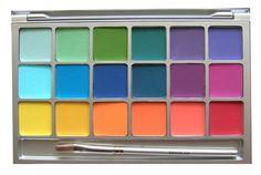 krylon Eyeshadow Palette   ve had my eye on this kryolan variety eye shadow palette in bright ...