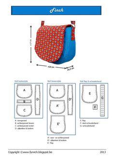 finch tas met patroon!