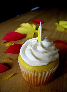 Lemon Cupcakes with Honey Almond Cream Cheese Frosting