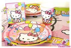 Artículos para fiesta de cumpleaños de Hello Kitty. Encuentra todos estos artículos en nuestra tienda en línea: http://www.siemprefiesta.com/fiestas-infantiles/ninas/articulos-hello-kitty.html?utm_source=Pinterest&utm_medium=Pin&utm_campaign=HelloKitty