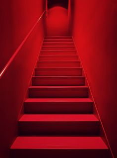"""""""Escalier rouge"""" by Claude Rozier-Chabert Rainbow Aesthetic, Aesthetic Colors, Aesthetic Vintage, Aesthetic Fashion, Escalier Art, I See Red, Simply Red, Red Wallpaper, October Wallpaper"""