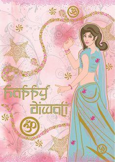 Happy Diwali Greeting Artwork 2010