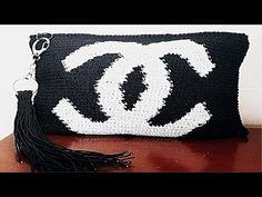 코바늘 클러치백 뜨기(지퍼달기,태슬 만들기)-crochet clutch bag - YouTube