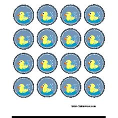 Free Printable Duck Themed Baby Shower Labels
