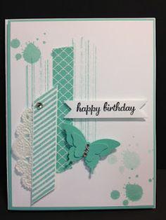 A Gorgeous Grunge Birthday Card Stampin' Up! Rubber Stamping Handmade Cards Stamp Camp Card Make & Take Card Stamp a Stack Card Birthday Cards For Women, Handmade Birthday Cards, Happy Birthday Cards, Stampin Up Karten, Karten Diy, Making Greeting Cards, Greeting Cards Handmade, Cute Cards, Diy Cards