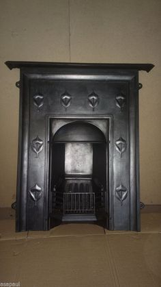 original victorian / edwardian cast iron combination fireplace.  COMPLETE
