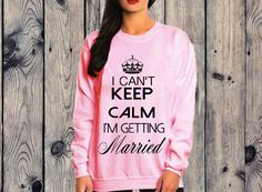 keep calm married sweatshirt | Queen Apparel #queen #apparel #brideshirt #teambride #bridesmaidsshirt #bridesmaid #bridal #queenshirt #queen_apparel #sweatshirt #shirts #funnyshirts #hoodies #maroon