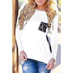 Sexy leopard long sleeved tee! Small Love this tee! Leopard detailing on the pocket, shirt opens up in the back with gorgeous leopard chiffon material-it is sheer FYI. Looks amazing with skinny jeans and boots! I would say this runs a size small. If you are a small, a medium would fit best. This item does not have tags attached but please be rest-assured it is BRAND NEW. The manufacturer sends them that way. Thank you! Tops Tees - Long Sleeve