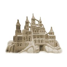 sand castle ❤ liked on Polyvore featuring fillers, beach, backgrounds, summer and decor