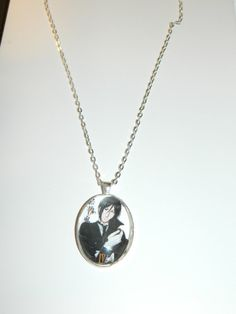 The Black Butler Anime Glass Pendant Necklace by PrettyInPInkToon, $10.00
