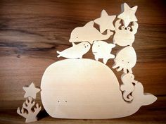 Sea animals wooden toys // Baby toys // by DesChosesEnBois