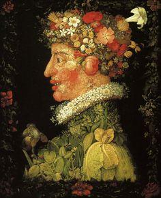 Guiseppe Arcimboldo - Le Printemps 1573 _______________________________ Le maniérisme, est un mouvement artistique de la période allant de 1520 (mort du peintre Raphaël) à 1580 ; c'est une réaction amorcée par le sac de Rome de 1527 qui ébranla l'idéal humaniste de la Renaissance. Contrairement aux précédents mouvements artistiques, la diffusion s'amorçant, il n'est plus circonscrit à l'Italie.