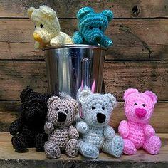 The Milkshake Bears - free crochet pattern by Linda Davie