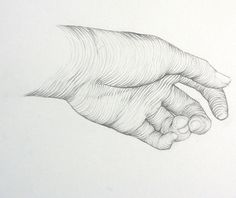 I really like the use of line in this one. The hand looks very realistic and 3 dimensional.
