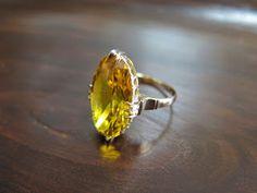 千本透かし blog / CLASSICS HAKOZAKI / 昭和ジュエリー: 納品済:554:キラッキラ シトリンだからと言って侮ってはいけないよ リング Gold Rings, Bling, Jewels, Crystals, Crafts, Beautiful, Accessories, Rings, Jewel