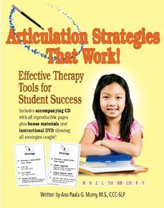 A bunch of PDF files for Intelligibility rating scale for teachers Minimal pairs for /l/ and /r/ consonant blends Student's experience in speech therapy questionnaire Tapping the R sound strategy Vowel drill cue cards Word banks by target sound