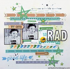 So Rad - Scrapbook.com This layout was created with Elle's Studio Everyday Moments Collection papers.