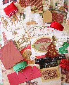 Embellishment Kit / Christmas Scrapbook kit / Scrapbook Kit / Junk Journal Kit / Scrapbook / Planner Kit / Embellishment Kits / Card Kit