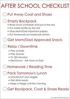 Simple to Use After School Checklist For Kids Back to School time! Help your kids create an after school schedule or after school routine with this free printable. The post Simple to Use After School Checklist For Kids appeared first on School Ideas. After School Checklist, After School Routine, School Routines, Kids Checklist, Kids Morning Routines, Kids Morning Checklist, Kids Schedule Chart, School Schedule Printable, Homework Checklist