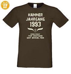 Bequemes 24. Jahre Fun T-Shirt zum Männer-Geburtstag Hammer Jahrgang 1993 Geschenkeset für Teenager und Junggebliebene Farbe: braun Gr: M (*Partner-Link)
