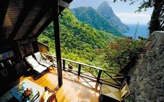 A room with a view at the Ladera, an 'open wall' resort in St. Lucia