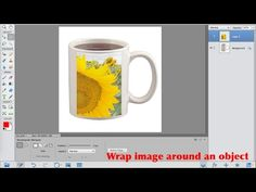 Photoshop Elements 14 wrap an image around an object - YouTube