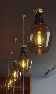 Great Northern Hotel glass pendant lights
