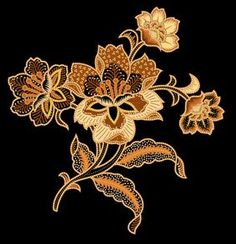 Flowers design tattoo embroidery patterns 15 ideas for 2019 Flower Tattoo Designs, Flower Tattoos, Flower Designs, Design Tattoo, Motif Floral, Floral Prints, Indonesian Art, Illustration Blume, Batik Art