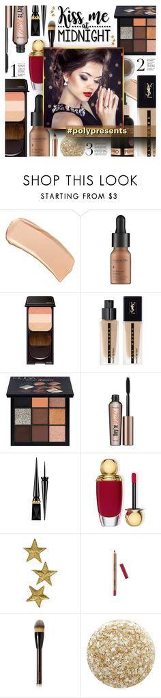 """""""#PolyPresents: Sparkly Beauty {Winter 18 - Make-up Trends}"""" by foolsuk ❤ liked on Polyvore featuring beauty, Cricut, John Lewis, Shiseido, Yves Saint Laurent, Dermablend, Huda Beauty, Benefit, Christian Louboutin and Christian Dior"""