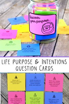 Over 700 printable reflection cards encourage mindfulness Journal Prompts, Writing Prompts, Journals, Meaningful Conversations, Losing Friends, Making Excuses, Positive Living, Positive Outlook, Choose Joy