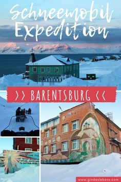 Barentsburg die russische Minensiedlung - Schneemobil Expedition. Tagesausflug auf Spitzbergen unser Abenteuer Arktis www.gindeslebens.com #Spitzbergen #Barentsburg #Schneemobil #Arktis #Norwegen #Winter #Svalbard Longyearbyen, Tromso, Cool Places To Visit, Places To Go, Travel Companies, Nature Images, Beautiful World, Travel Guides, Travel Inspiration