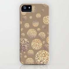 Bokeh Dots-Cafe Latte iPhone & iPod Case by Lisa Argyropoulos - $35.00
