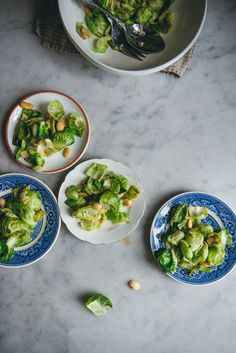 Warm Brussels Sprout Salad with Marcona Almonds | O&O Eats