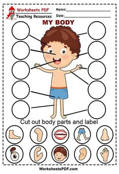 Body Parts Preschool Activities, Preschool Body Theme, Emotions Preschool, Senses Preschool, Preschool Writing, Preschool Learning Activities, Preschool Worksheets, Toddler Activities, Kids Educational Crafts