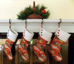 Christmas Stocking Holiday Stocking Traditional by 2LeftHandz