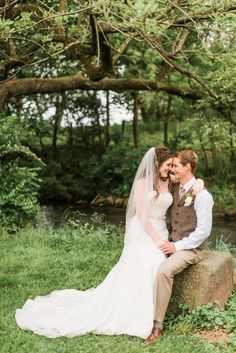 Photo of bride and groom at their woodland wedding by Alysha Christine Photography