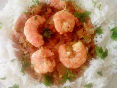 Langostinos con arroz
