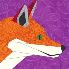 This foundation paper pieced pattern creates a 12 inch block, but formulas are included for resizing it.  In recent years foxes have been