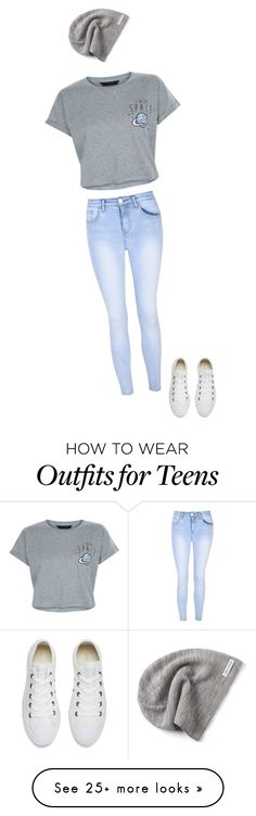 """Untitled #1"" by maebeauty0 on Polyvore featuring Glamorous, New Look and Converse"