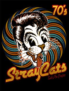 StrayCats estampa by willblackwell