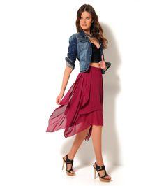 caf47cbb6 Výsledek obrázku pro asymetrická sukně. Lucie Podloucká · Clothes · Tulle  Midi Skirt ...